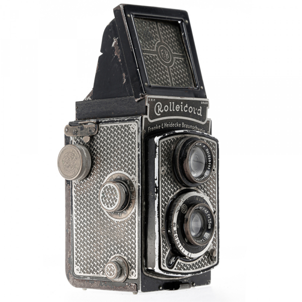 Rolleicord I  Art-deco Nickel plated 3