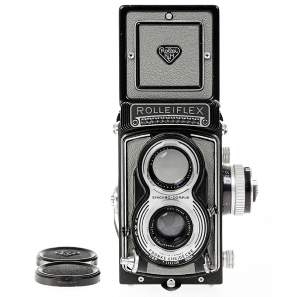 Rolleiflex T- Grey, Carl Zeiss-Tessar 1/3.5 F-75mm 0