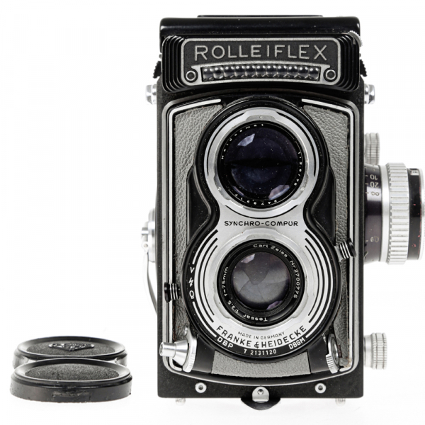 Rolleiflex T- Grey, Carl Zeiss-Tessar 1/3.5 F-75mm 3