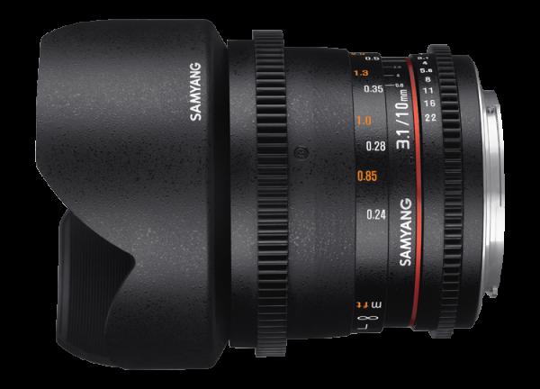Samyang 10mm T3.1 VDSLR ED AS NCS CS II - Canon EF-S 1