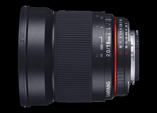 Samyang 16mm f/2 ED AS UMC CS - Canon EF-S 1