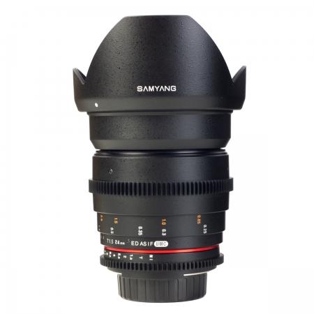 Samyang 24mm T1.5 VDSLR - montura Canon EF 3