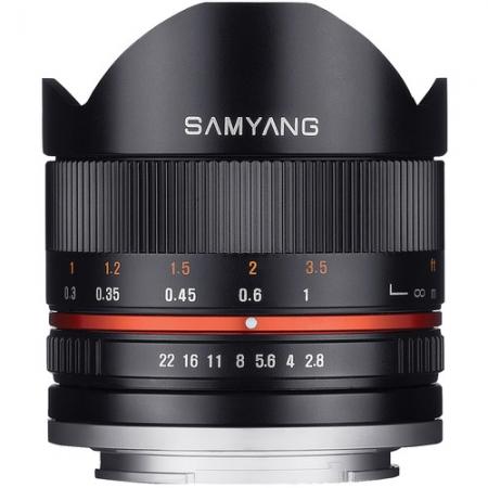 Samyang 8mm Fisheye F2.8 II Sony E negru 0