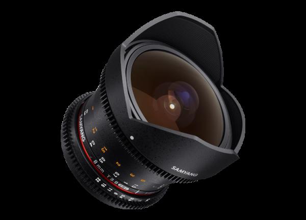 Samyang 8mm T3.8 VDSLR UMC Fish-eye CS II - Canon EF-S - Cine Lens 4