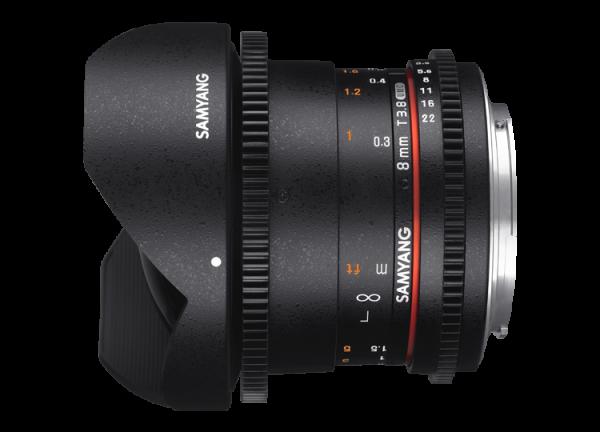 Samyang 8mm T3.8 VDSLR UMC Fish-eye CS II - Canon EF-S - Cine Lens 1