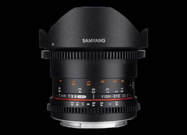 Samyang 8mm T3.8 VDSLR UMC Fish-eye CS II - Canon EF-S - Cine Lens 0