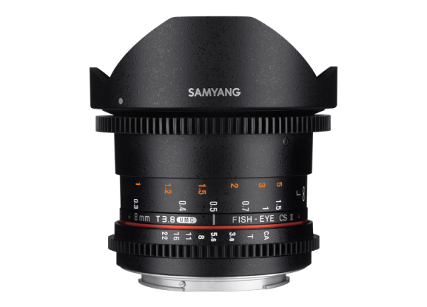 Samyang 8mm T3.8 VDSLR UMC Fish-eye CS II - Nikon F - Cine Lens 0