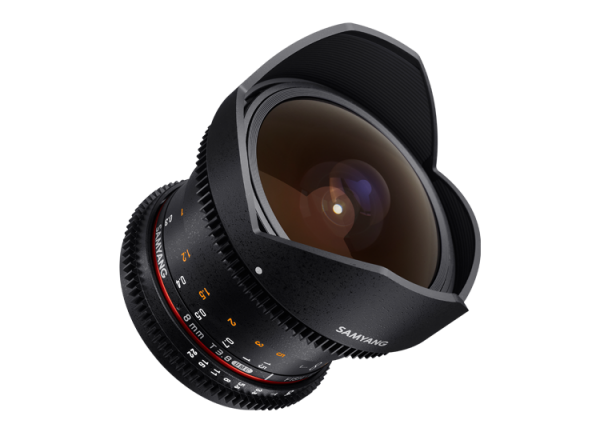 Samyang 8mm T3.8 VDSLR UMC Fish-eye CS II - Nikon F - Cine Lens 4