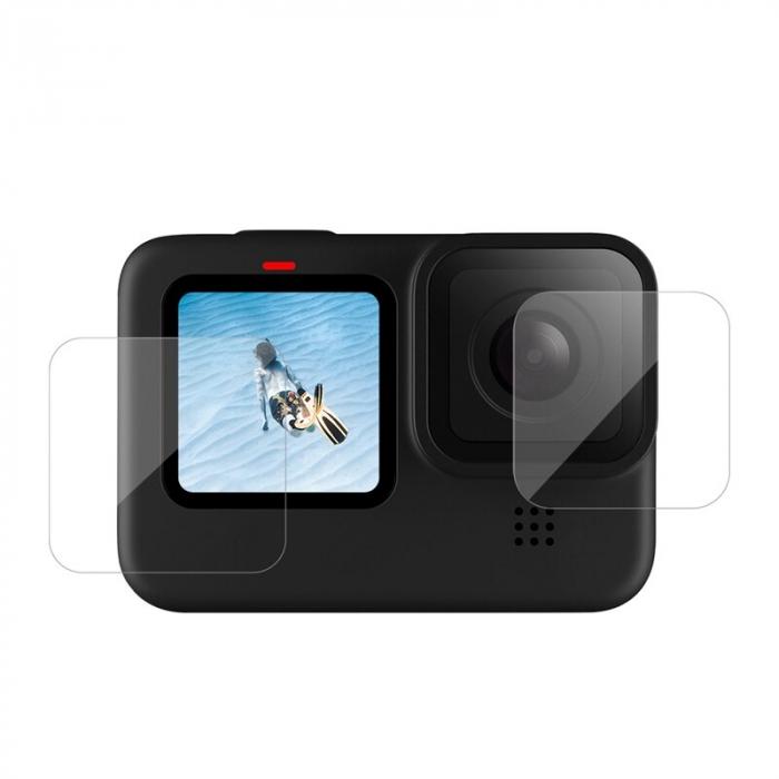 Set folii de protectie pentru ecranele GoPro Hero 9 transparent - negru - GP-FLM-901 [1]