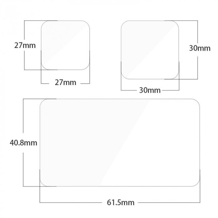 Set folii de protectie pentru ecranele GoPro Hero 9 transparent - negru - GP-FLM-901 [5]