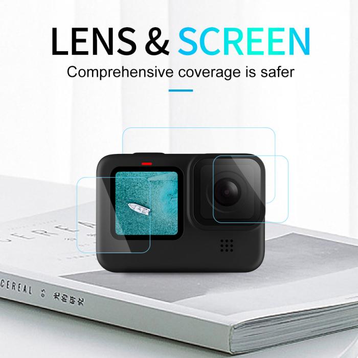 Set folii de protectie pentru ecranele GoPro Hero 9 transparent - negru - GP-FLM-901 [11]