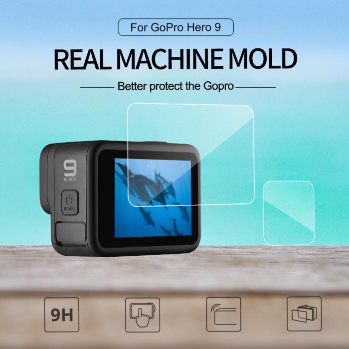 Set folii de protectie pentru ecranele GoPro Hero 9 transparent - negru - GP-FLM-901 [6]