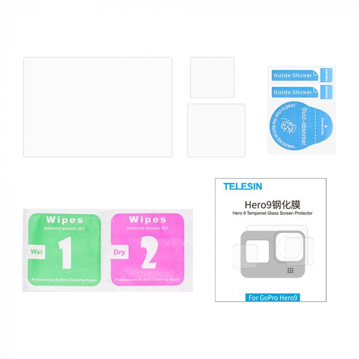 Set folii de protectie pentru ecranele GoPro Hero 9 transparent - negru - GP-FLM-901 [14]