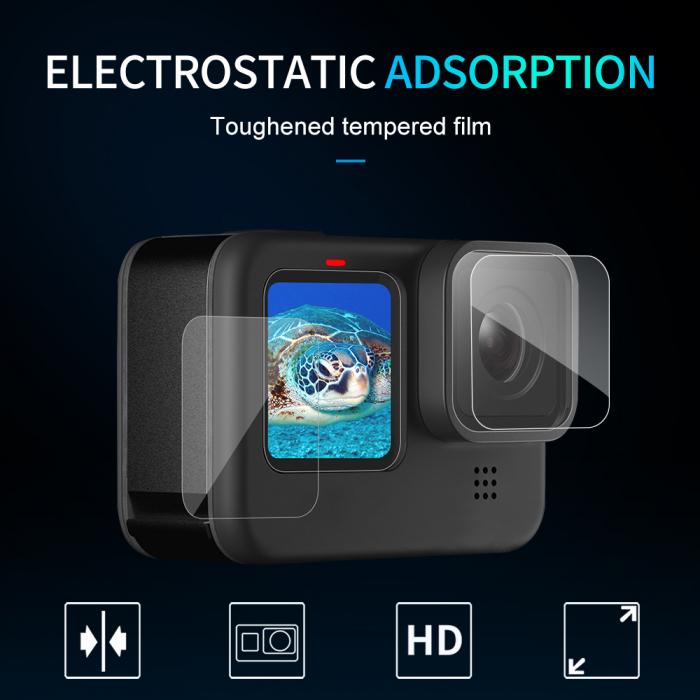Set folii de protectie pentru ecranele GoPro Hero 9 transparent - negru - GP-FLM-901 [9]