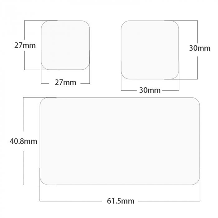 Set de folii de protecție a ecranului ultra transparente pentru Gopro9 - GP-FLM-902 [10]