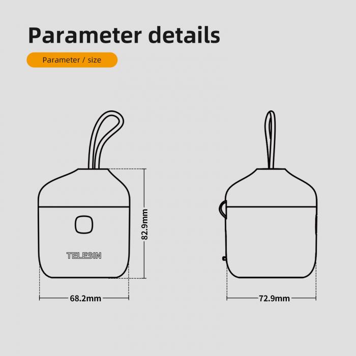 All-in Box Incarcator  & Cititor Card microSD & Cutie de pastrare pentru baterii GoPro Hero9 (fără baterie) - GP-BTR-904 [8]