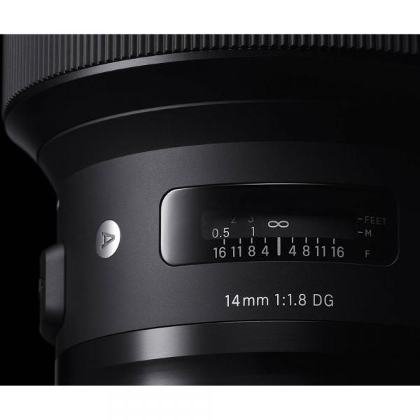 SIGMA 14mm f/1.8 DG HSM ART- Canon EF 6