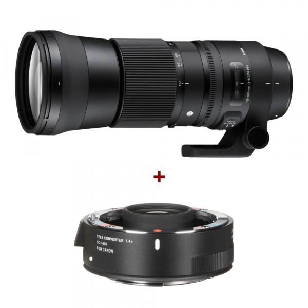 Sigma 150-600mm f/5-6.3 DG OS HSM Canon - Contemporary + teleconvertor Sigma 1.4x TC-1401 0