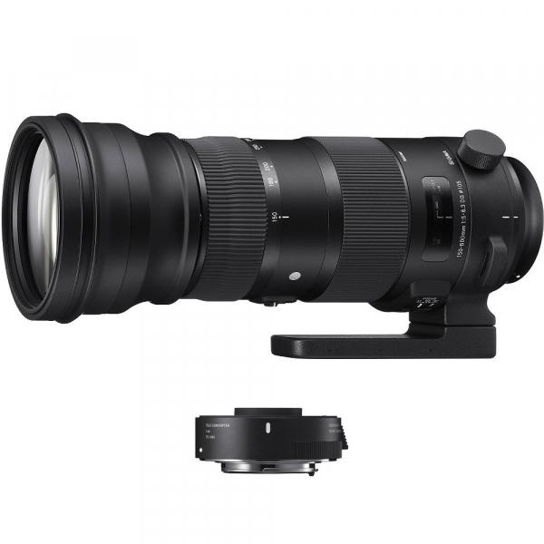 Sigma 150-600mm f/5-6.3 OS Canon [S] Sport kit cu Sigma TC-1401 1.4x [0]