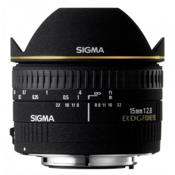 Sigma 15mm f/2.8 EX DG Fisheye Diagonal - Canon EF 0