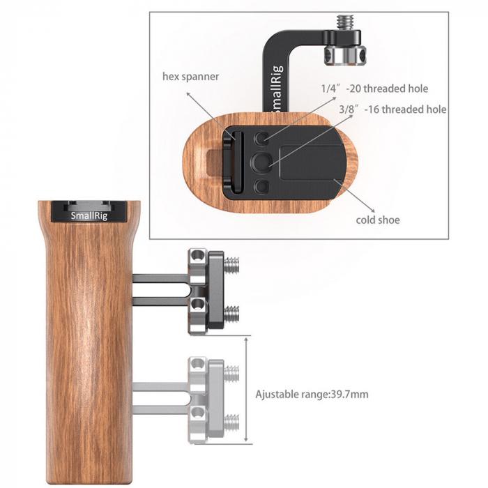 SmallRig Wooden Universal Side Handle 2093 [1]