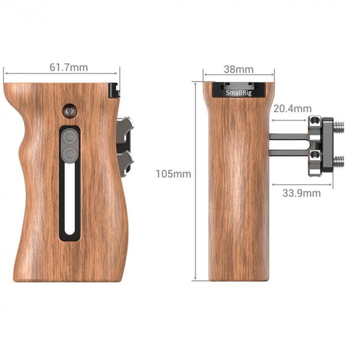 SmallRig Wooden Universal Side Handle 2093 [2]