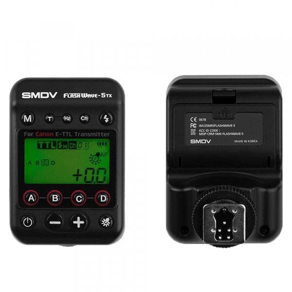 SMDV FlashWave-5 TX - transmiter TTL pentru blitz-ul Briht 360 - patina Canon 1