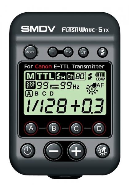 SMDV FlashWave-5 TX - transmiter TTL pentru blitz-ul Briht 360 - patina Canon 0