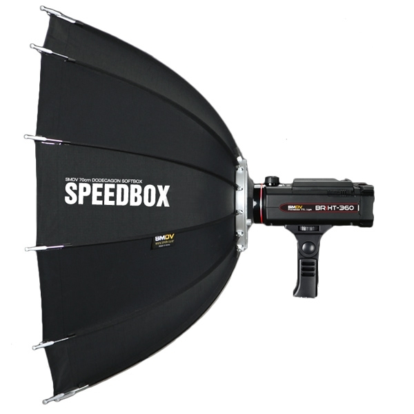 SMDV Speedbox-A110 , softbox dodecagon + GRID , cu montura SB-07 pt blitz-ul BRiHT 360 TTL 1
