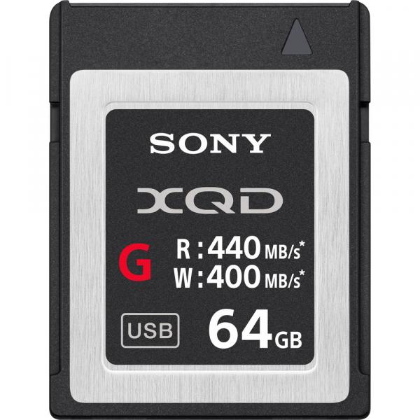 Sony XQD seria G 64GB, citire 440MB/s, scriere 400MB/s 0