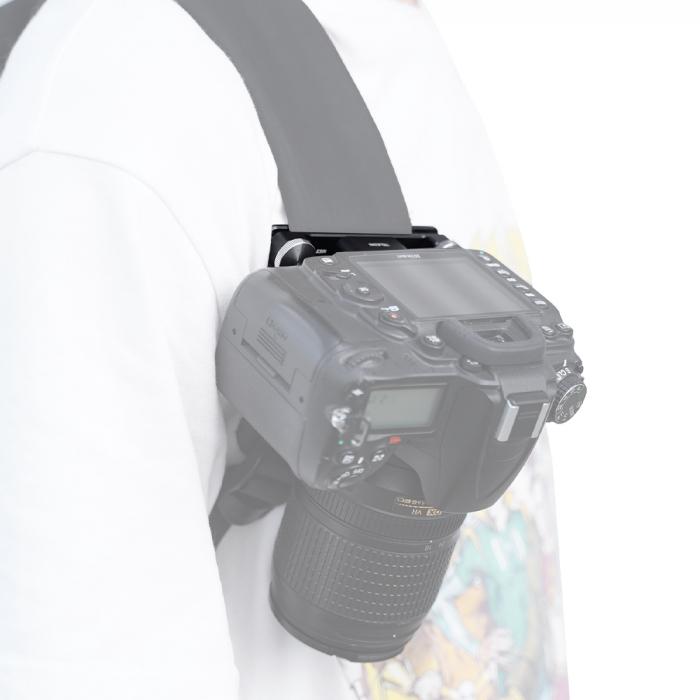 TELESIN Placă cu eliberare rapidă, din aliaj de aluminiu pentru montare pe breteaua rucsacului pentru trepied, DSLR, Camera de acțiune - TE-ZJZ-006 [7]