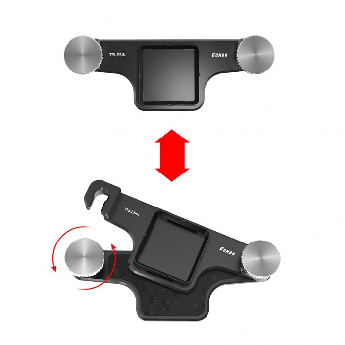 TELESIN Placă cu eliberare rapidă, din aliaj de aluminiu pentru montare pe breteaua rucsacului pentru trepied, DSLR, Camera de acțiune - TE-ZJZ-006 [3]