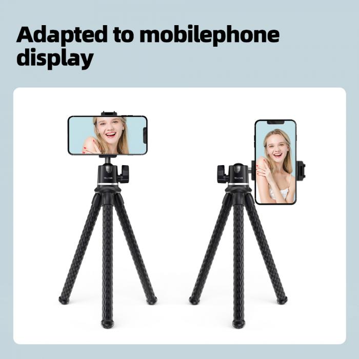 TELESIN Suport telefon/dslr, trepied multifuncțional cu brate flexibile de tip Jobby -  TE-TRP-001 [7]