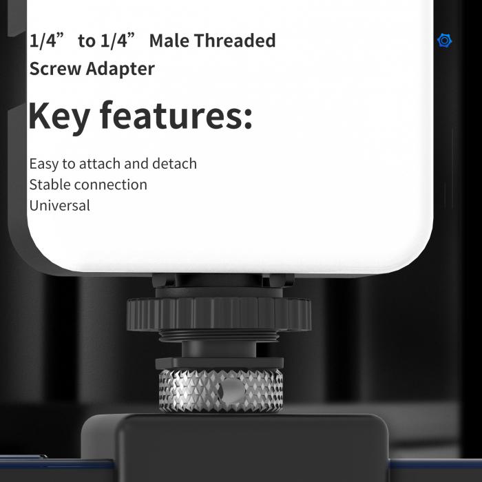 """Telesin  Șurub de aluminiu cu cap dublu 1/4 """" TE-DHS-001 [1]"""