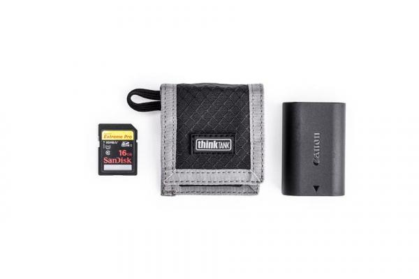 Think Tank CF/SD + Battery Wallet - Gri - Portofel carduri si baterie 1