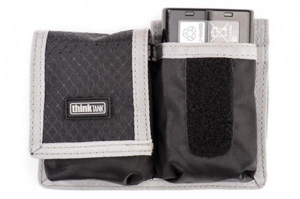 ThinkTank Pro DSLR Battery Holder - Husa usoara si compacta pentru 2 acumulatori - Gri cu Negru 0