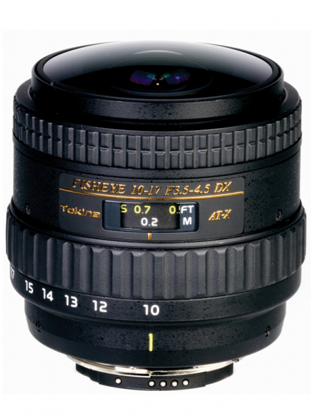 Tokina 10-17mm f/3.5-4.5 AT-X DX  Fisheye pentru Canon 0