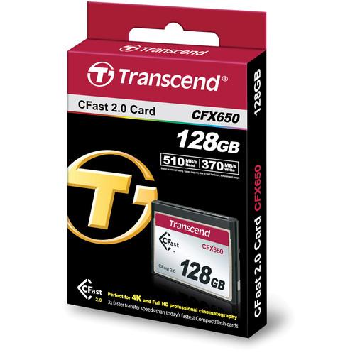 Transcend CFast 2.0 CFX650 128GB, citire 510MB/s, scriere 370MB/s 1