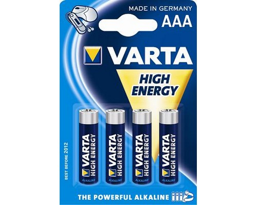 Varta High Energy AAA (R3) - baterie 1.5V 0