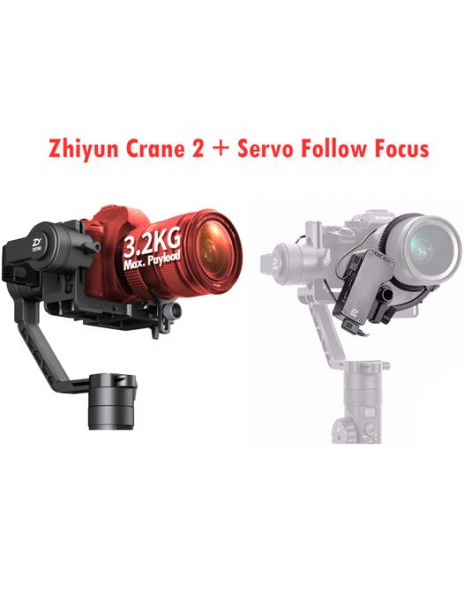 Zhiyun-Tech CRANE 2 Professional stabilizer gimbal -stabilizare pe 3 axe pentru DSLR  + Servo Follow Focus 0