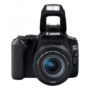 Canon EOS 250D negru + Canon EF-S 18-55mm f/4-5.6 IS STM + geanta foto + card SanDisk 32GB 90MB/s4