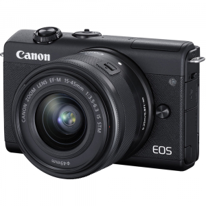 Canon EOS M200 Kit EF-M 15-45mm IS STM - Canon EF-M 55-200mm f4.5-6.32