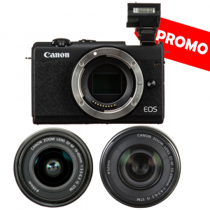 Canon EOS M200 Kit EF-M 15-45mm IS STM - Canon EF-M 55-200mm f4.5-6.30