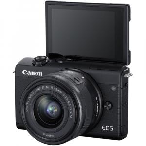 Canon EOS M200 Kit EF-M 15-45mm IS STM + EF-M 55-200mm f/4.5-6.3 IS STM- negru4