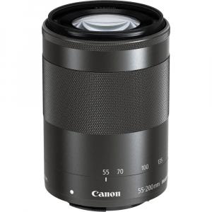 Canon EOS M200 Kit EF-M 15-45mm IS STM + EF-M 55-200mm f/4.5-6.3 IS STM- negru9