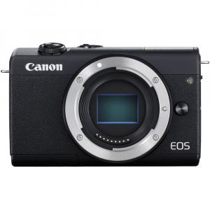 Canon EOS M200 Kit EF-M 15-45mm IS STM + EF-M 55-200mm f/4.5-6.3 IS STM- negru2