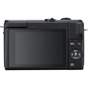 Canon EOS M200 Kit EF-M 15-45mm IS STM + EF-M 55-200mm f/4.5-6.3 IS STM- negru3