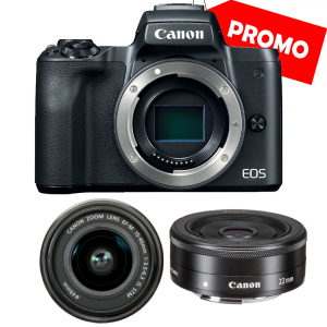 Canon EOS M50 + Canon 15-45mm IS negru Canon EF-M 22mm f2 STM0