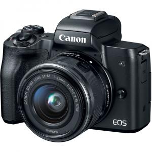 Canon EOS M50 + Canon 15-45mm IS negru EF-M 55-200mm f4.5-6.3 IS STM2