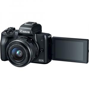 Canon EOS M50 + Canon 15-45mm IS negru EF-M 55-200mm f4.5-6.3 IS STM4